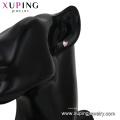 29114 xuping moda em forma de coração de zircão sintético ródio cor senhoras brincos