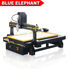 Jinan Blue Elephant 1324 Stone CNC Router with Big Rotary Axis, 4 Axis Wood CNC Machine for Cabinet