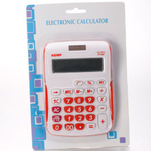 Calculadoras básicas blanco y rojo