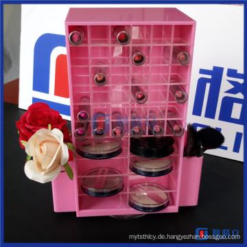 Acryl Kosmetik Make-up-Organizer mit Lippenstift und Kompaktfächer