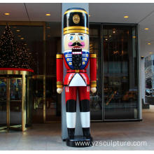 Christmas Fiberglass Life Size Nutcracker Statue For Sale
