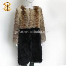 Suministro Directo De La Fábrica De La Señora Del Estilo Europeo Fox Fox Abrigo De Piel