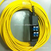 8 puertos LC panel de fibra prefabricada de fibra con pigtail de fibra