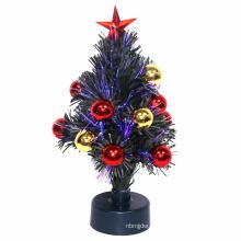Горячая! Рождество белые волокна оптические коробки деревья Электропитание Санта-Клауса