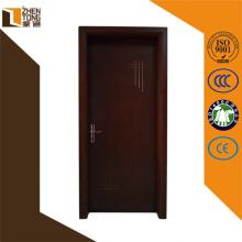 Dobradiça ajustável membrana pvc imprensa mdf, madeira porta principal único design, portas de pvc