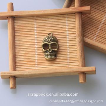 2015 Halloween decor Skull head shape metal craft african metal art for scrapbooking
