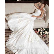ZM16030 Detachable Big Long Train Gown Vintage Sweetheart White Wedding Dress 2016 Beach Wedding Dress Bridal Gown