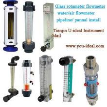 Roletemetro de vidro de visão Fluxômetro de ar-água-Oxigênio Tubo de vidro Rotametro Medidor de painel-Gasoduto Fluxômetro-Medidor de fluxo de água de plástico