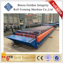Máquina de fabricação de rolo de folha de telhado de metal popular, máquina de fabricação de telhas metálicas