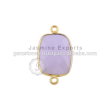 Conectores de bisel de pedras preciosas semi-preciosas feitas à mão