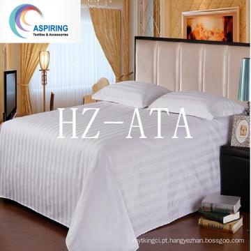 Tecido de lençóis de cama 50% Algodão 50% Algodão Folha Quailty Hotel boa