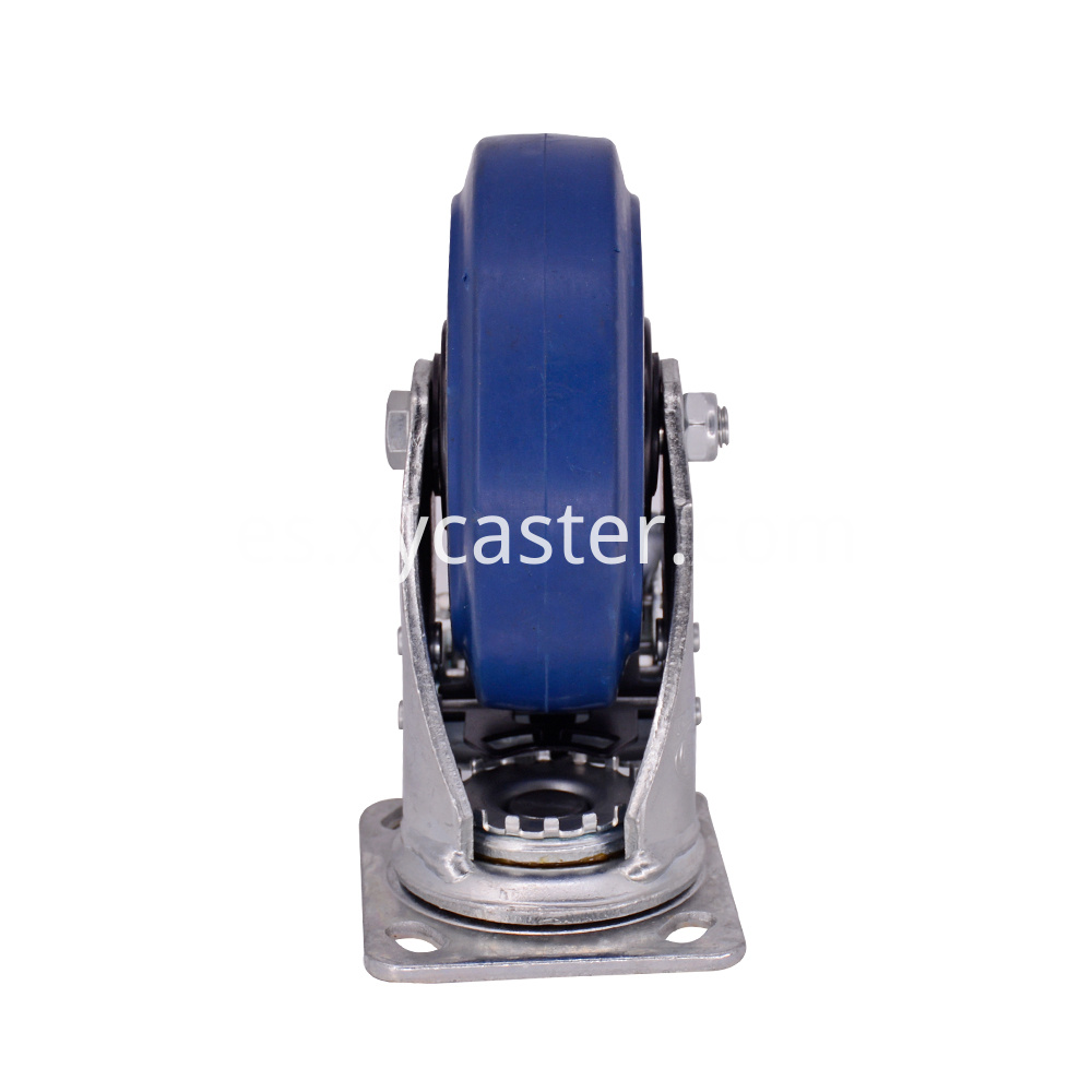 6 Inch Rubber Wheel Caster With Brake