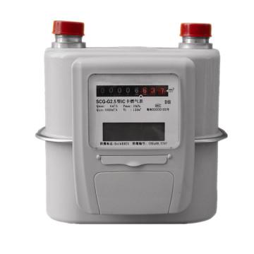 Valve Control Smart IC Card/RF Card Prepaid Gas Meter G1.6
