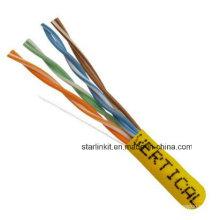 China Made Factory Price UTP Cat5e Câble LAN 1000FT Jaune