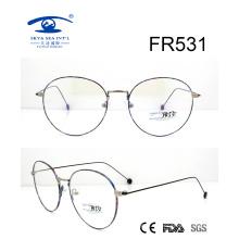 Corea del estilo redondo de metal delgado marco óptico (FR531)