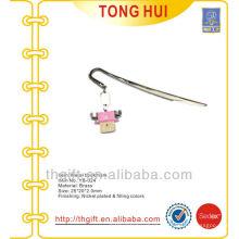 Birthday hang tag metal bookmarks /cartoon cute metal bookmarks for books