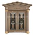 Hot vente en acier hommes porte design villa porte principale avec charnière