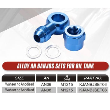 Banjo AN fittings for fuel tanks
