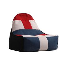 Portable Lazy Bean Bag Sofa mit mehrfarbigem Stoff