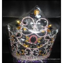 Kundenspezifische Kopfschmuck, Großhandel König Mode Tiara Schönheit Mädchen Kronen und Tiaras