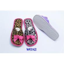 Women's Leopard Binding Thongs Slippers Open Toe