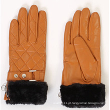 Luvas de condução da moda da pele do falso couro faux senhora (yky5168)