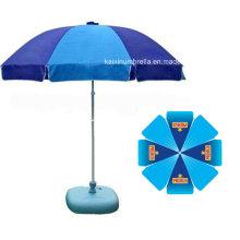 Красивая печать логотипа Открытый пляжный зонтик