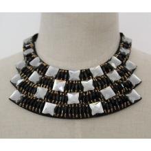 Nova pérola cristal moda charme traje colar gargantilha colar (je0018)