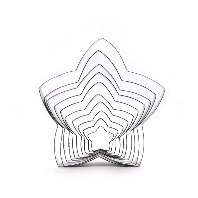 Small Large Star shape Cookie Cutter Set