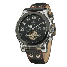 Custom Brand Genuine Leather Men Automatic Watches