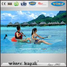 Fabricação Profissional Sente-se em Top Clear Trip Kayak Transparente