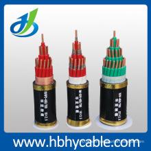 XLPE / PVC a isolé le câble d'alimentation blindé blindé de conducteur de cuivre de gaine de PE / PE