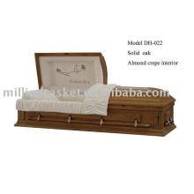 caixão de carvalho feito em china
