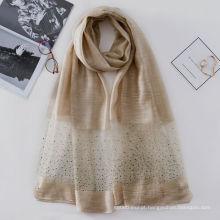 Padrões de brilho sexy perfuração quente combina slilk lã senhora indiana lenço de seda