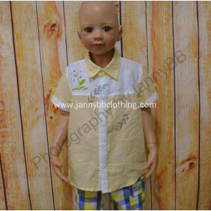 boys cotton short sleeve summer shirt