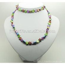 Fashion Hematite Star Pearl Shell Wrap