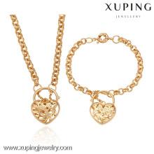 63195-Xuping 18K plaqué or bijoux ensemble de femme avec un style en forme de coeur