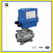 220В/50Гц 1,6 МПа Ду32 1.25 дюймов из нержавеющей стали 2 способ шариковый клапан с электрический привод