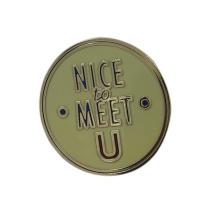 Дунгуань Настроенный логотип Круглый металлический значок