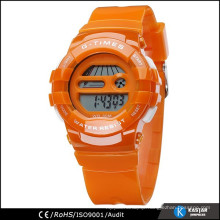 color sport watch for young ladies digital watch PU strap
