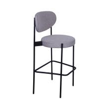 Современный барный стул из нержавеющей стали с тканевым сиденьем