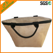 bolsa de compras ecológica reutilizable de yute