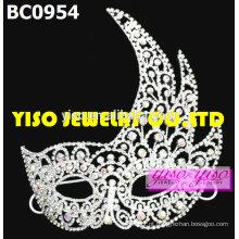 Máscara de moda de cristal tiaras