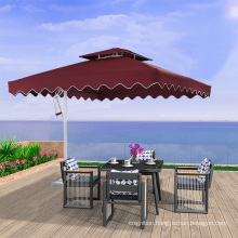 Wholesale 2.5m/3m waterproof  garden parasols square aluminum umbrella outdoor  patio umbrellas