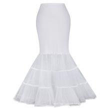 Kate Karin Womens Floor Length White Retro Vintage Dress Crinoline Underskirt Mermaid Wedding Dress Petticoat CL010477