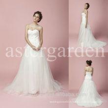 Robe de bal train sans bretelles sweetheart organza robe de mariée AS283