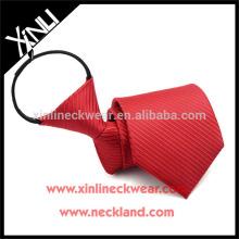Nó perfeito 100% Handmade poliéster Zip gravata