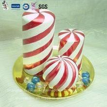 Meistverkaufte rote und weiße Spirale Weihnachtskerze
