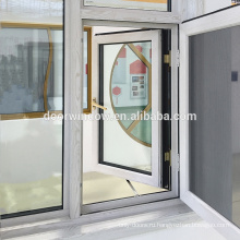 Деревянное зерно вне качания Thermal Break Алюминий 24 x 48 створчатое окно с экраном безопасности