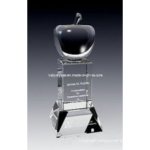 9 Inch Tall Superb Apple Crystal Award Trophy (GL12)